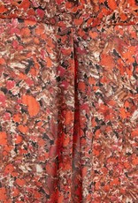 InWear Pica Shirt Orange Small Flowers