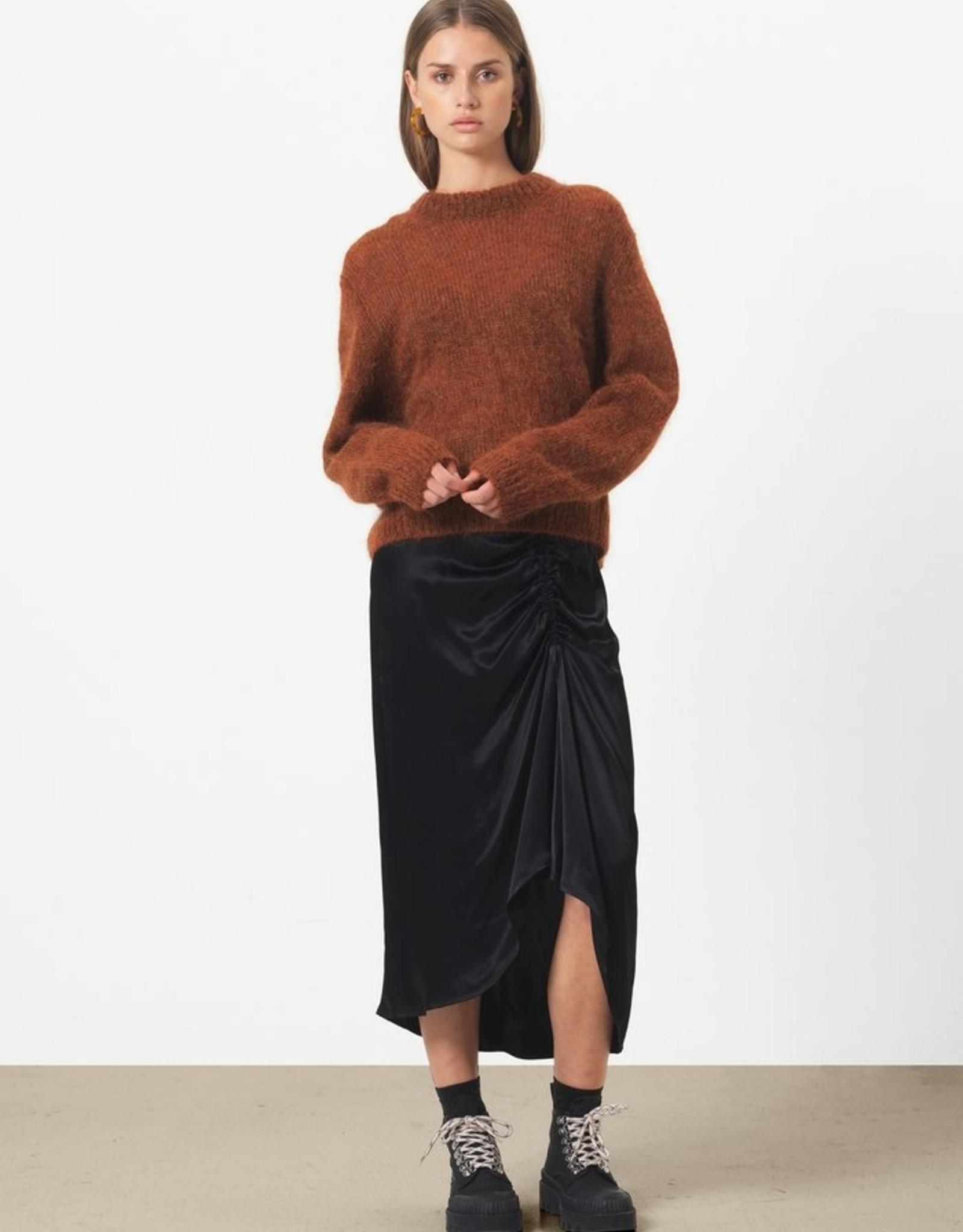 Second Female Lily Midi Skirt Black