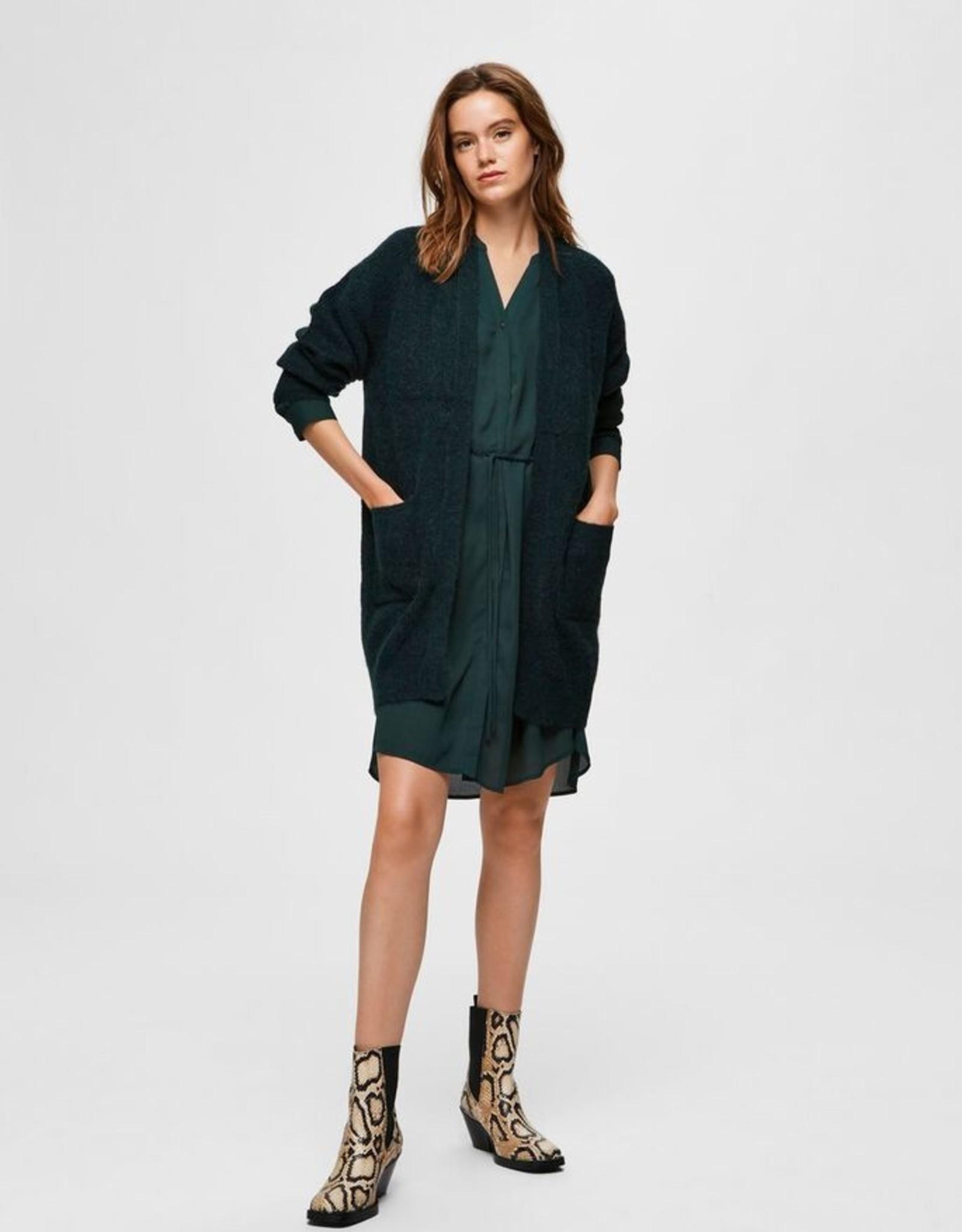 Selected Femme SLF Lulu Knit Long Cardigan Scarab