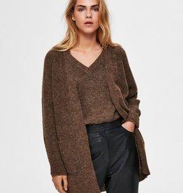 Selected Femme SLF Lulu Knit Long Cardigan Dachshund