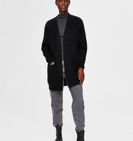 Selected Femme SLF Lulu Knit Long Cardigan Black