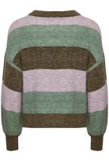 Soaked in Luxury Angel Stripe Pullover Green Stripe