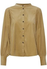 Soaked in Luxury Ilia Blouse Military Olive