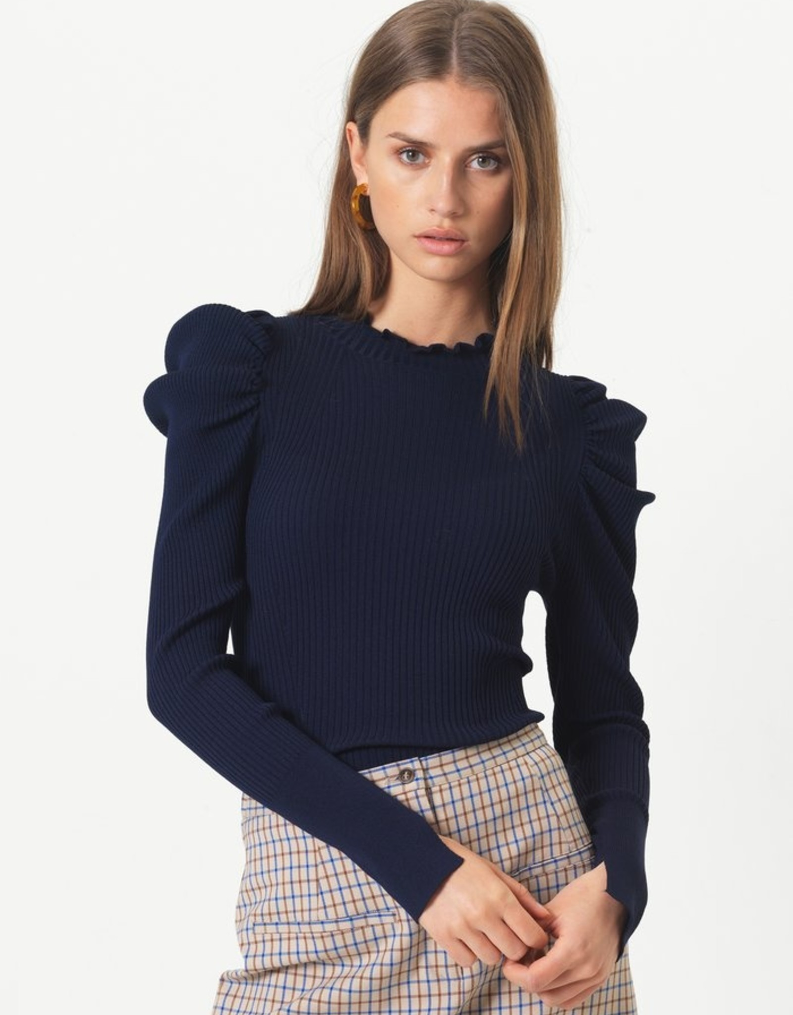 Second Female Canilla Knit T-Neck Eclipse