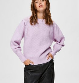 Selected Femme Linna Knit O-Neck Fair Orchid