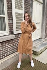 Modstrom Holst Dress Brown Oak Stripe