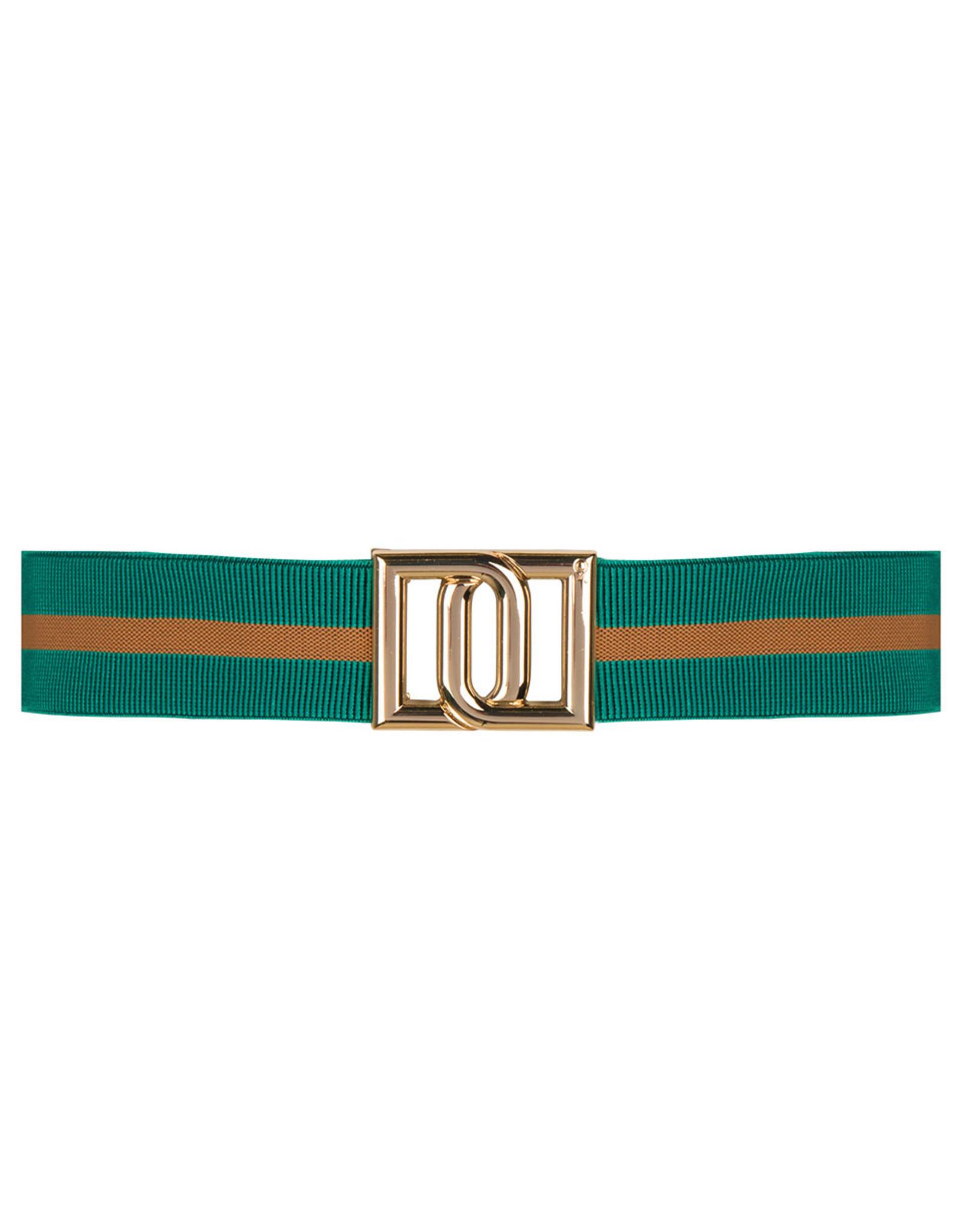 Dante 6 Monogram Belt Emerald Green