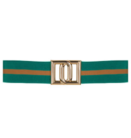 Dante 6 Monogram Belt Emerald Green