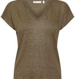 InWear Faylinn V T-shirt Sandy Grey