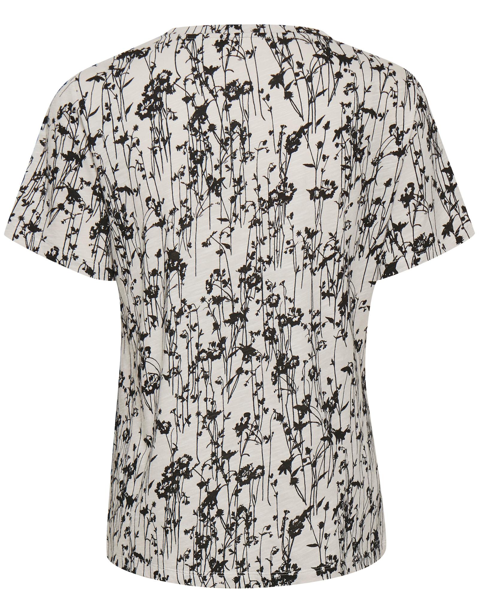 InWear Alma T-Shirt Black Pressed Flowers