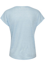 InWear Faylinn V T-Shirt Bleached Blue