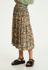 Soaked in Luxury Indiana Skirt Multifloral Print Ermine