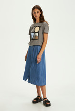 Soaked in Luxury Jones Skirt Classic Blue Denim