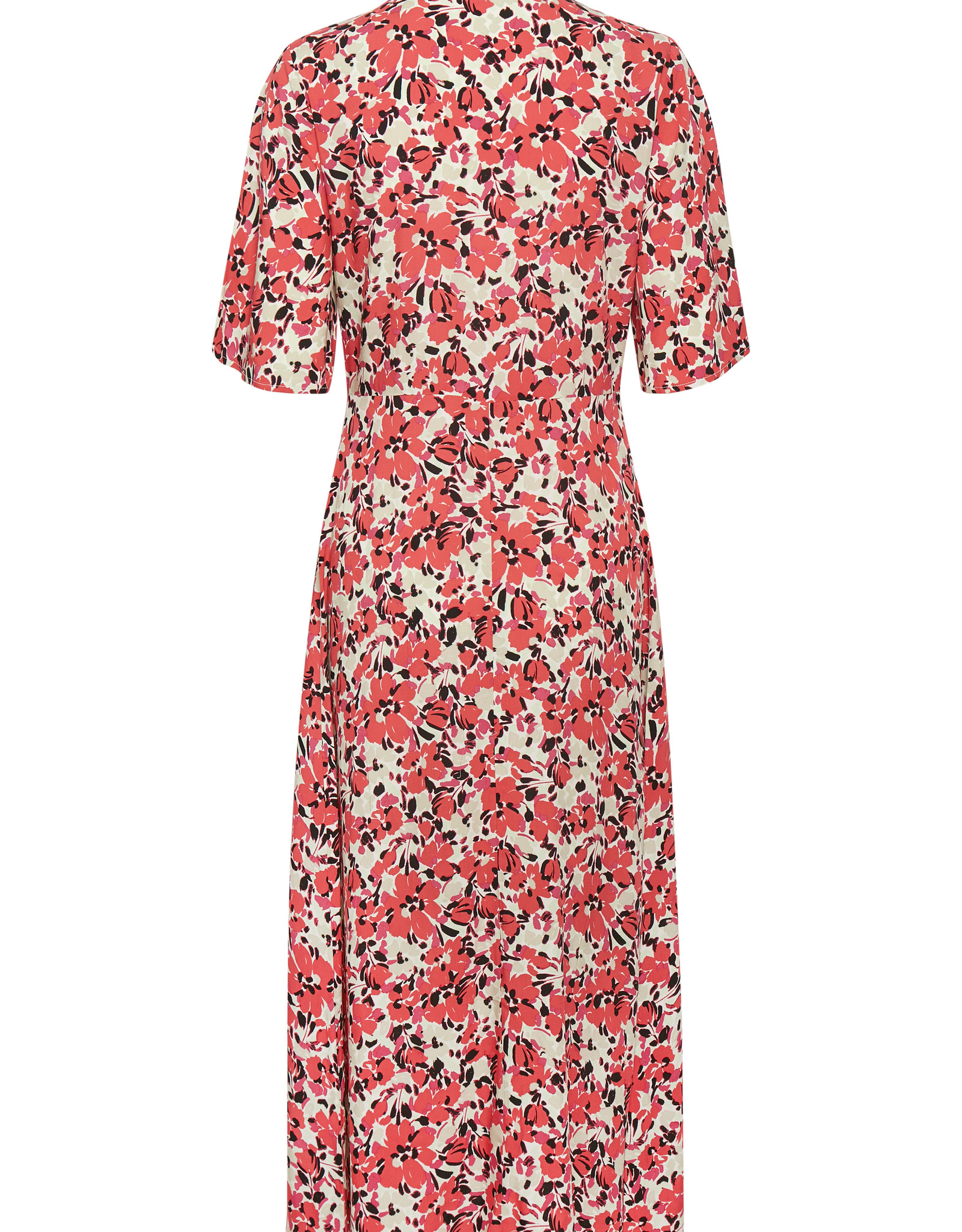 Soaked in Luxury Indiana Rafina Shirt Dress Multifloral Cardinal