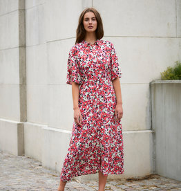 Soaked in Luxury Indiana Rafina Shirt Dress Multifloral Cardinal
