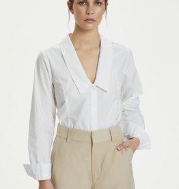 Gestuz Jilan V-Collar Shirt Bright White