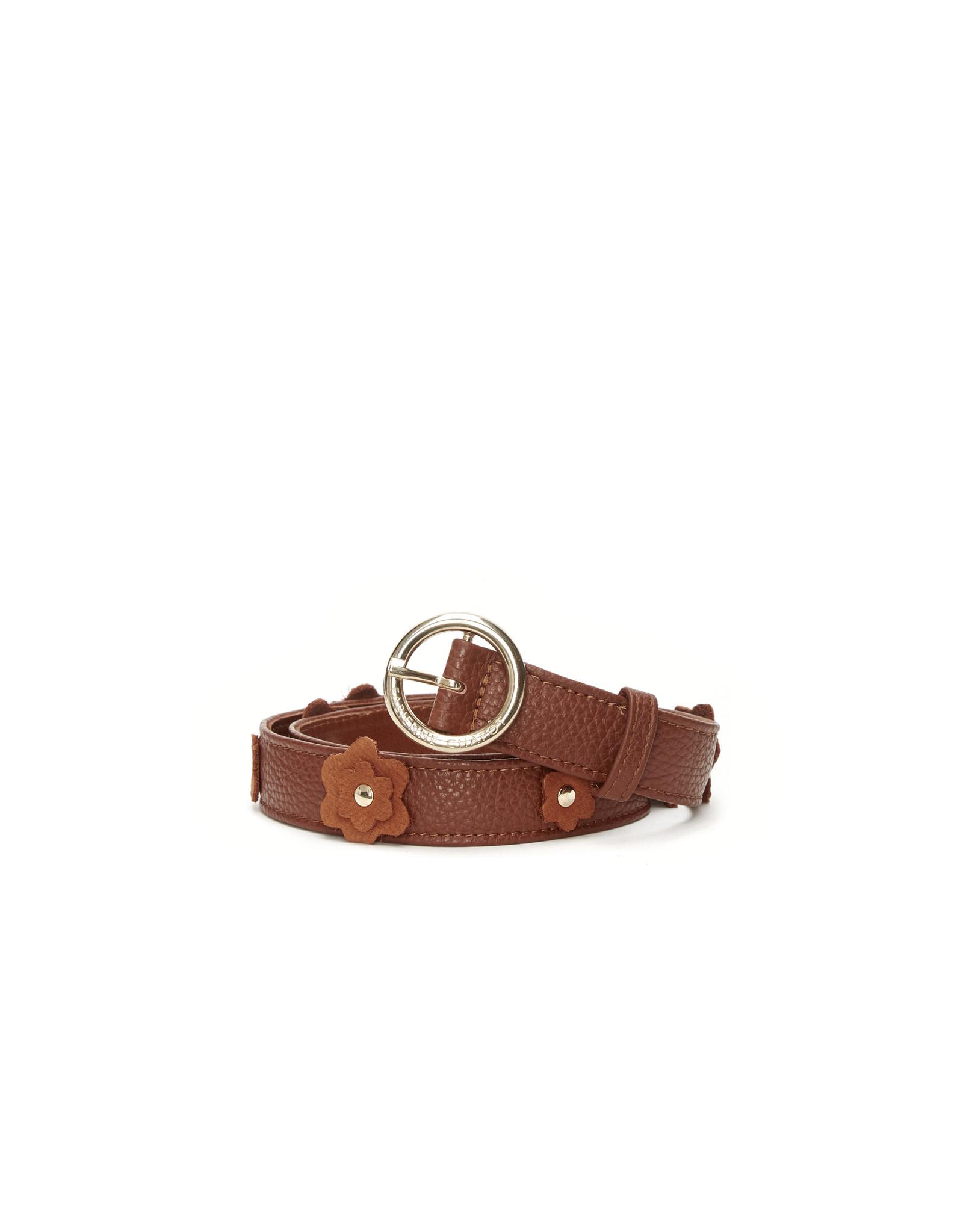Fabienne Chapot Flower Belt Cognac