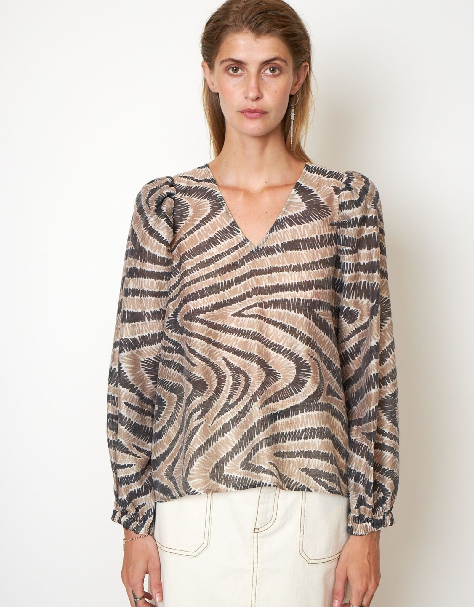 Second Female Lilly Blouse Humus
