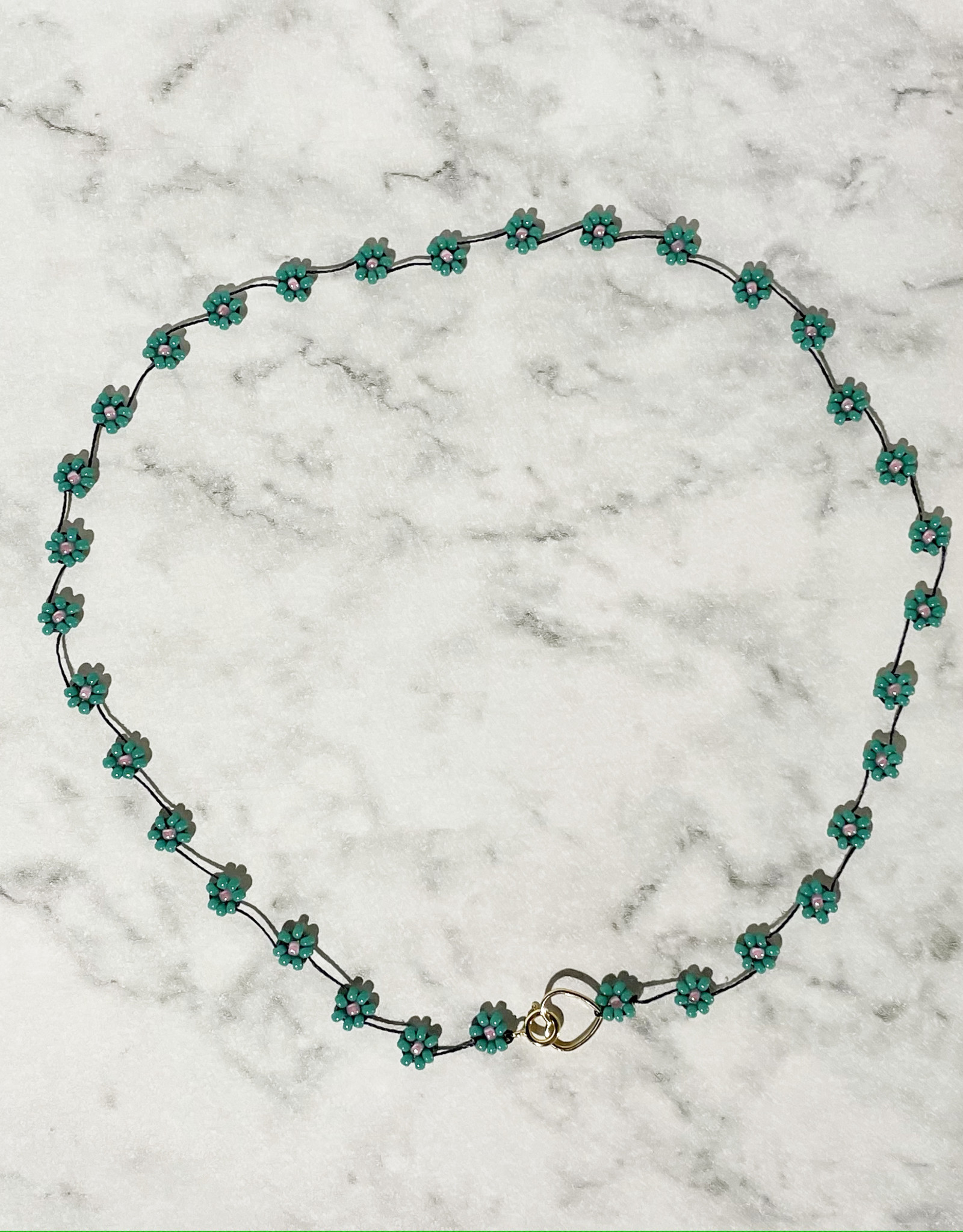 Atelier Labro Fiori Necklace Turquoise Candy
