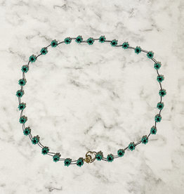 Atelier Labro Fiori Necklace Turquoise
