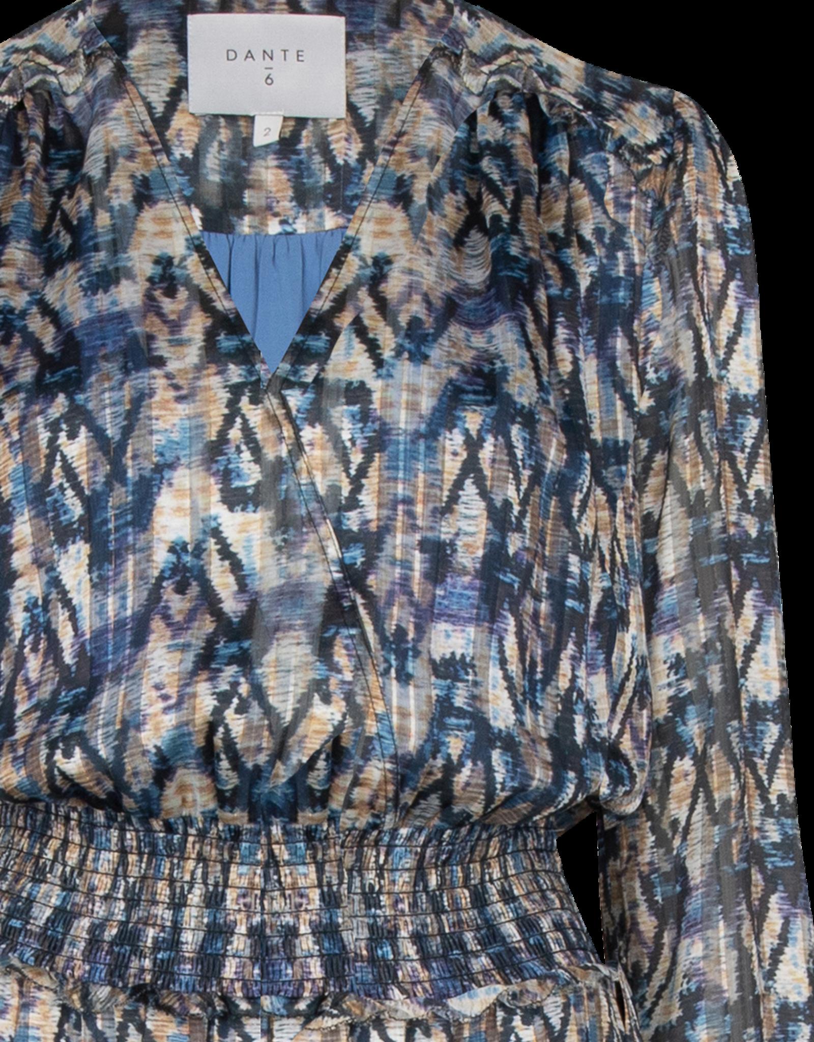 Dante 6 Bardon Aztec Print Long Dress Multi