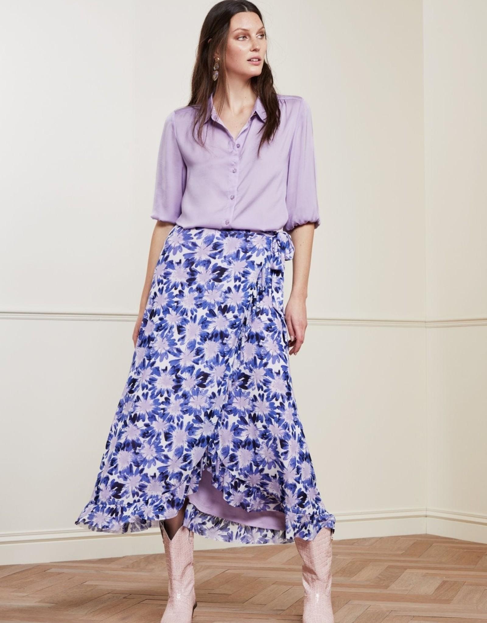 Fabienne Chapot Bobo Frill Skirt Cream White Lilac