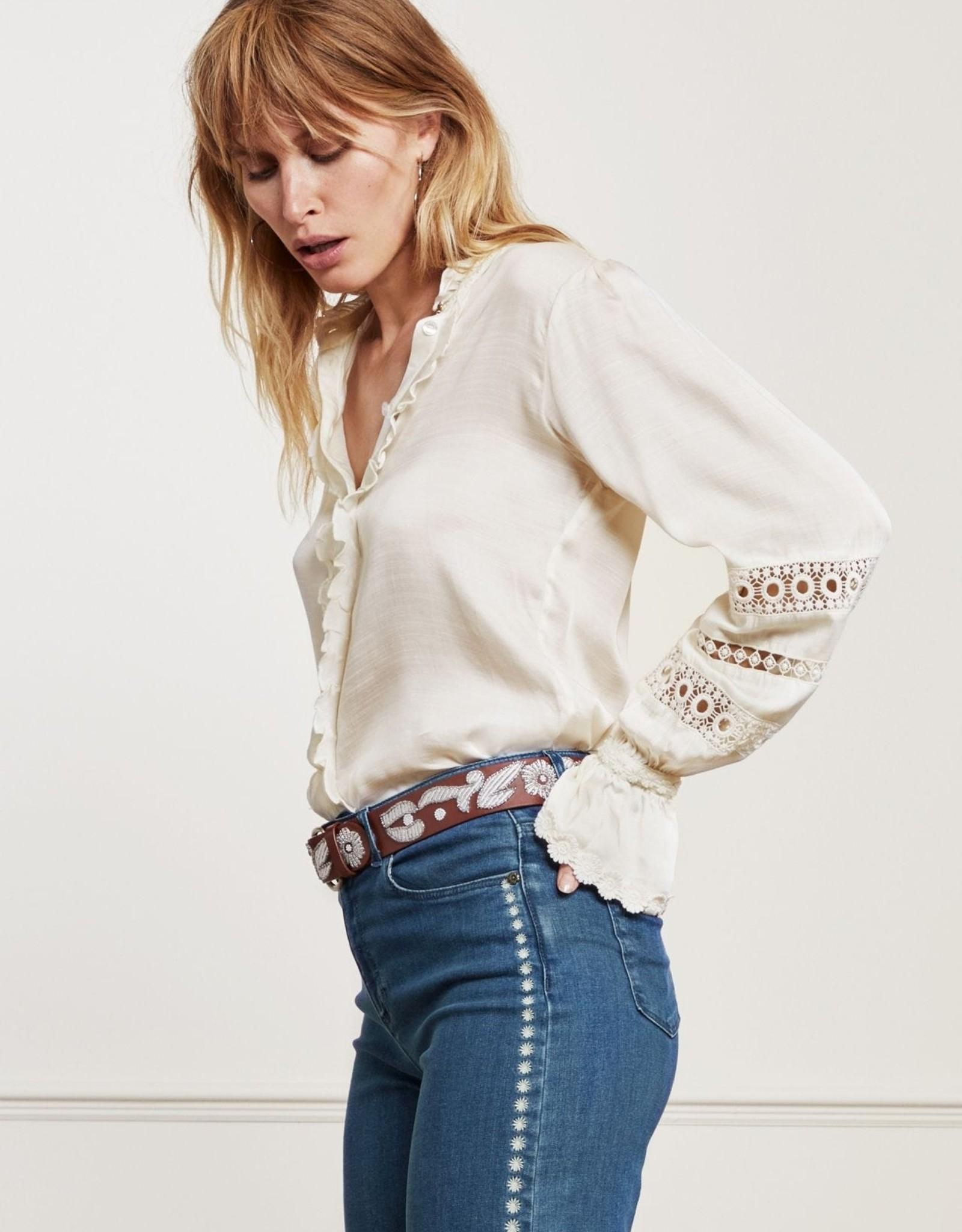 Fabienne Chapot Boho Blouse Cream White