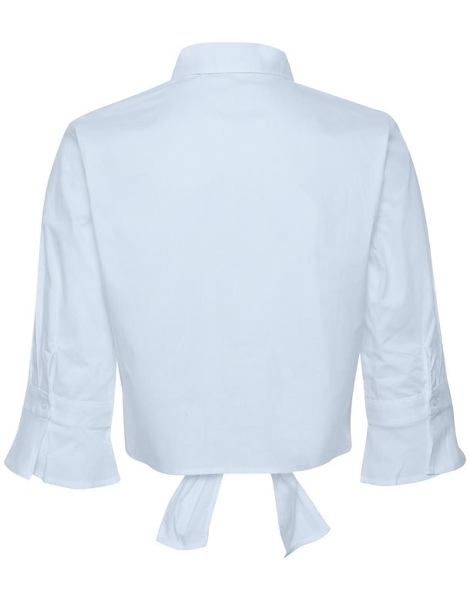 Gestuz Ibby Cropped Shirt Xenon Blue