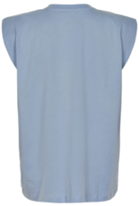 Soaked in Luxury Eryka Padded T-Shirt Cashmere Blue