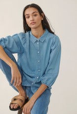 Moss Copenhagen Jaina 3/4 Shirt Blue Wash