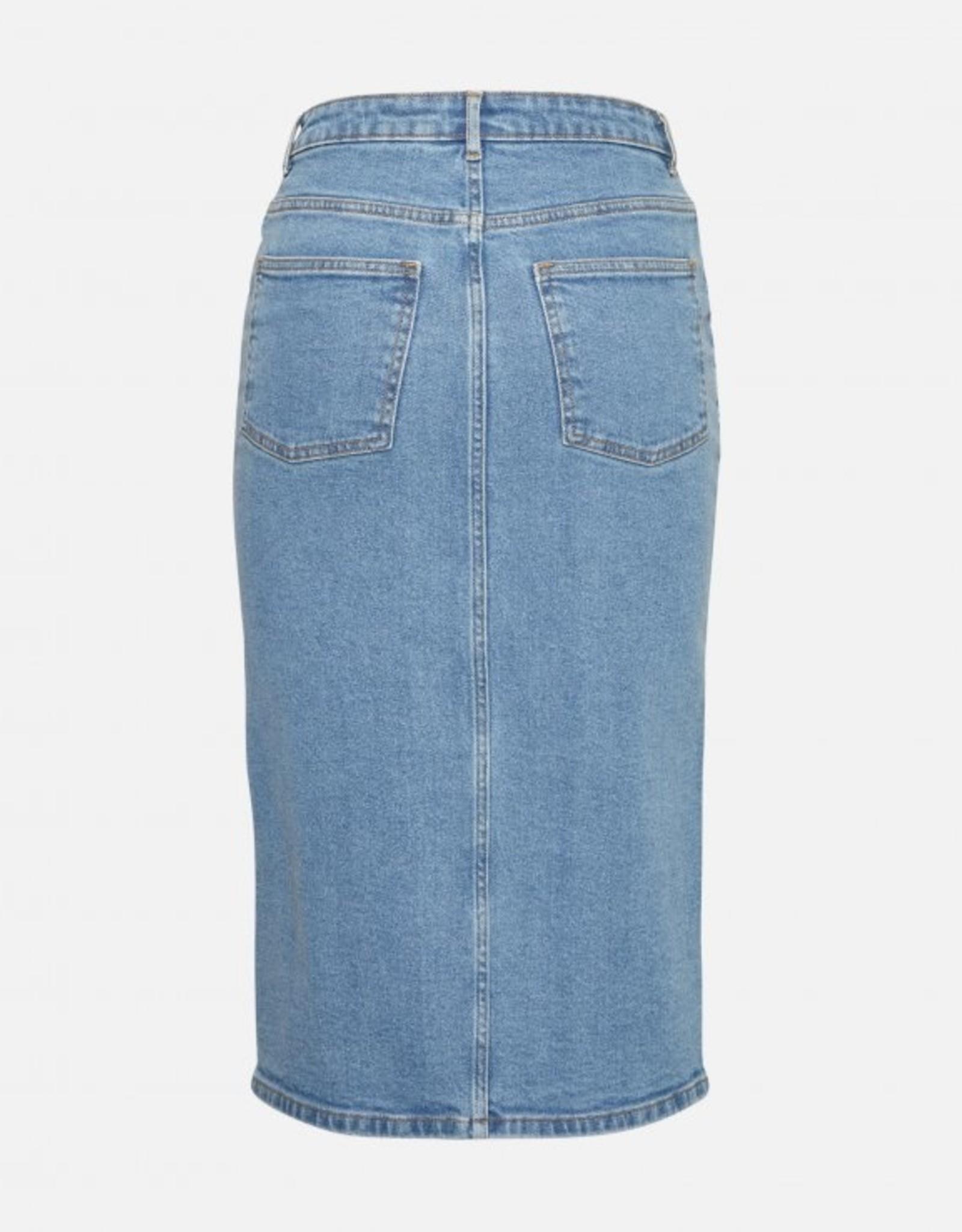 Moss Copenhagen Calissa Rikka Denim Skirt Vintage Blue
