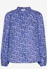 Second Female Dayly Simple Shirt Deep Ultramarine