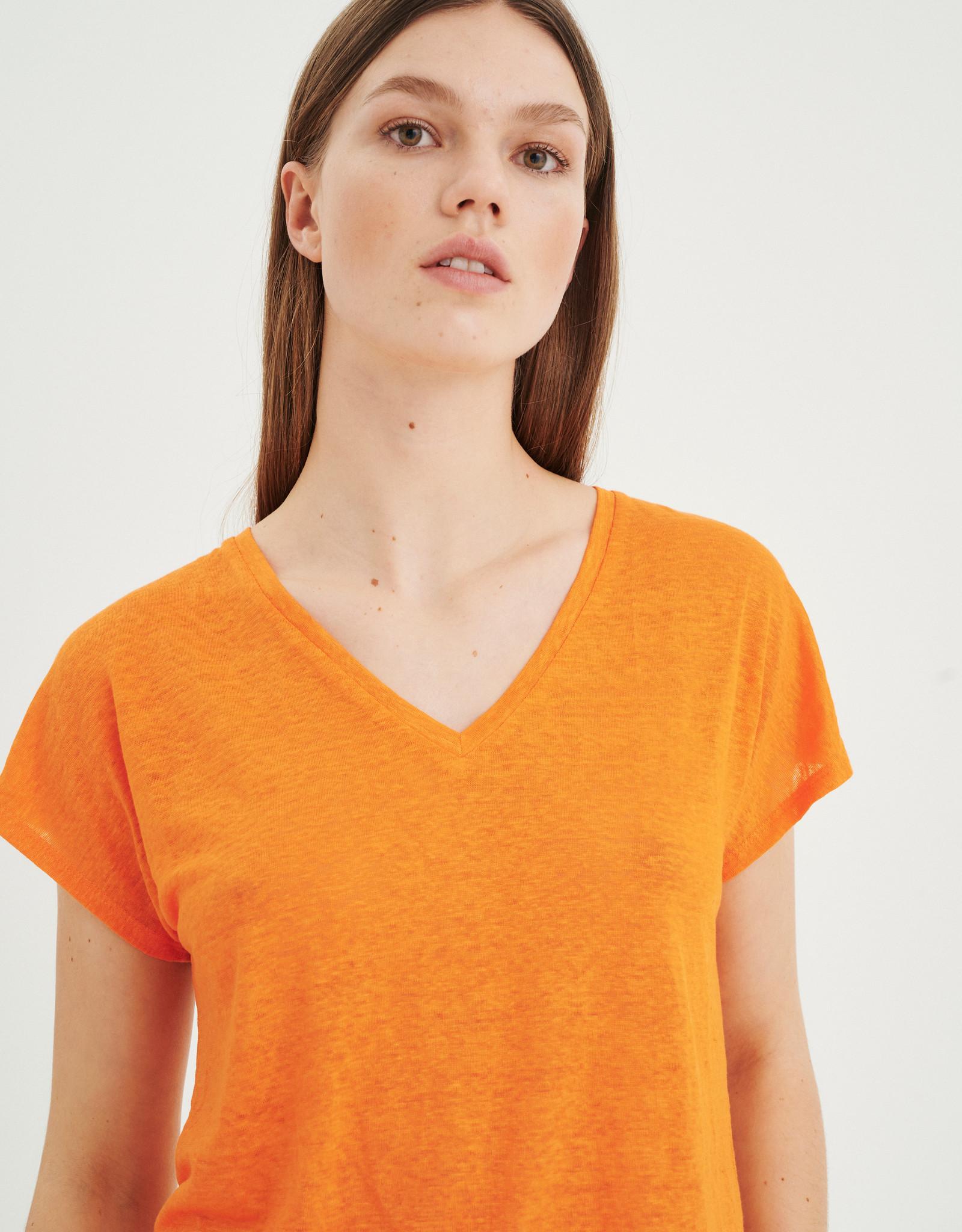InWear Faylinn V T-Shirt Vibrant Orange