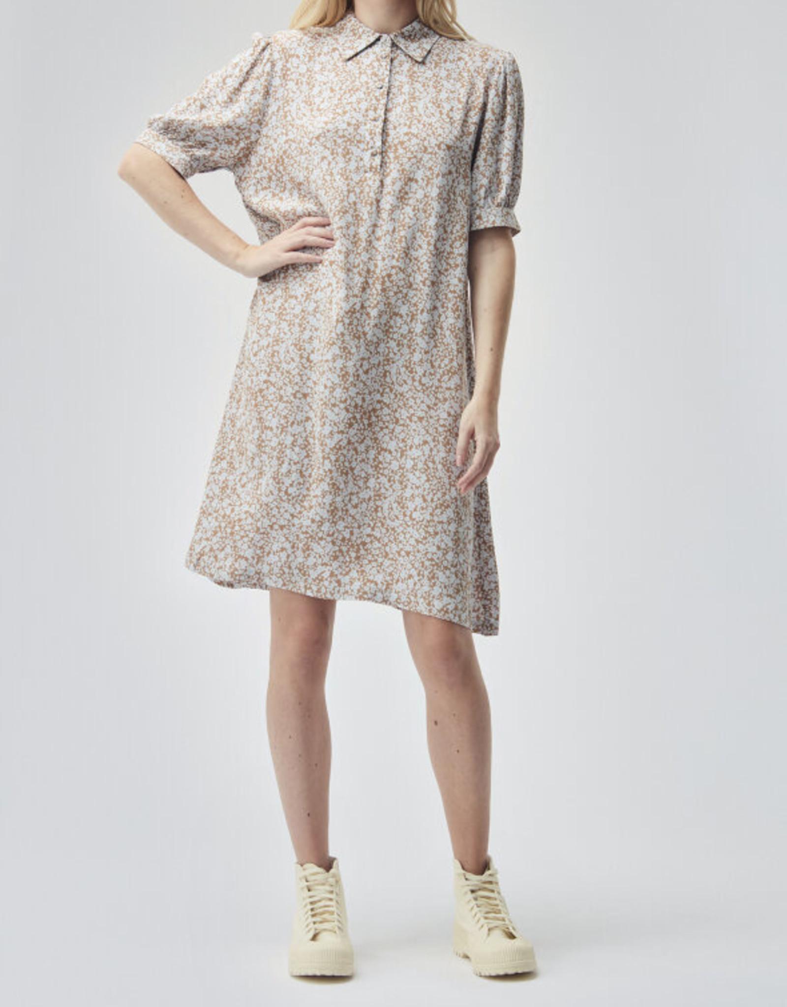 Modstrom Isa Print Dress Bluebell