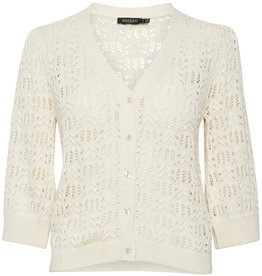 Soaked in Luxury Scaley Cardigan Whisper White