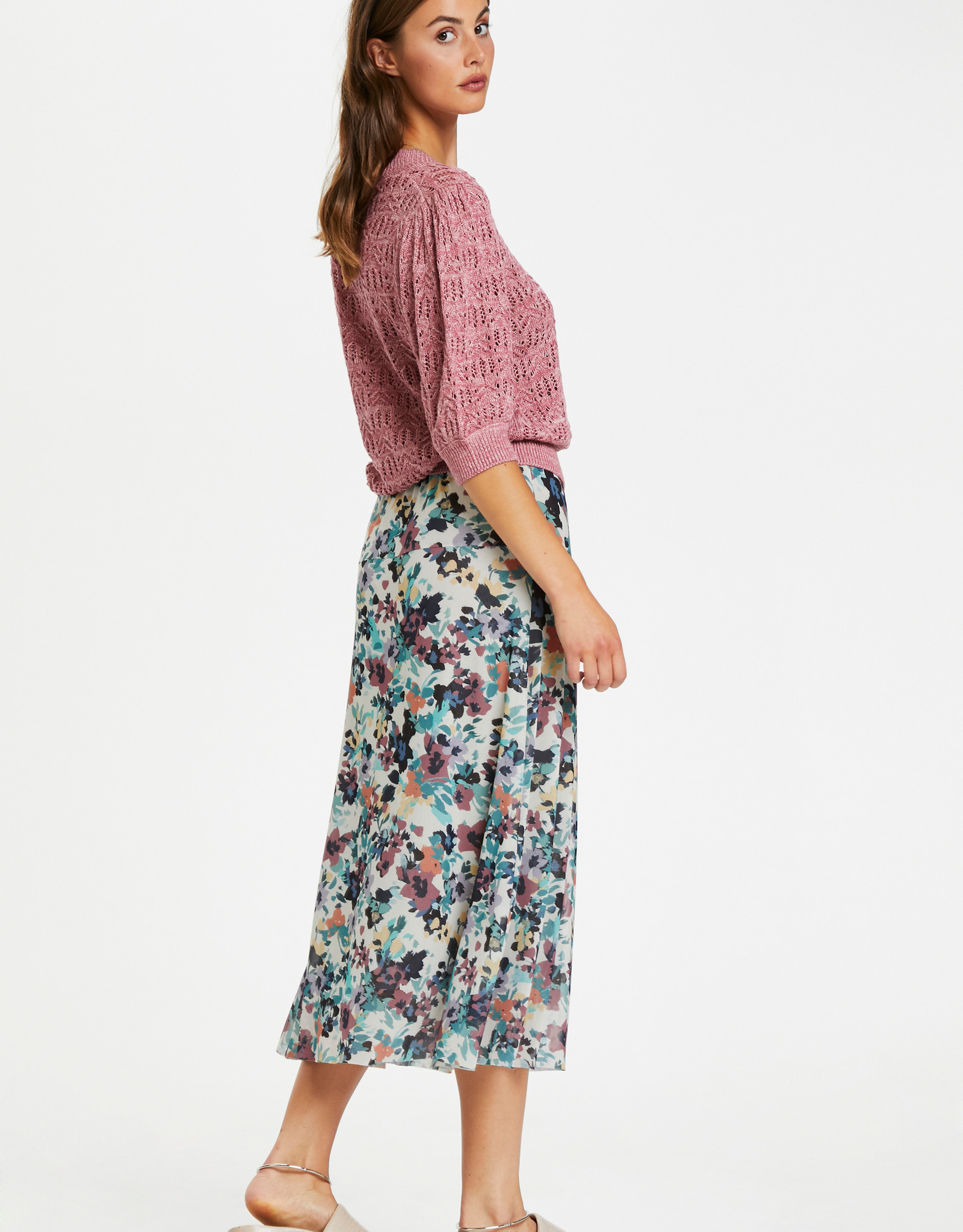 Soaked in Luxury Mully Skirt Vivid Floral Print