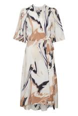 InWear Hazini Wrap Dress Natural Floating Oil