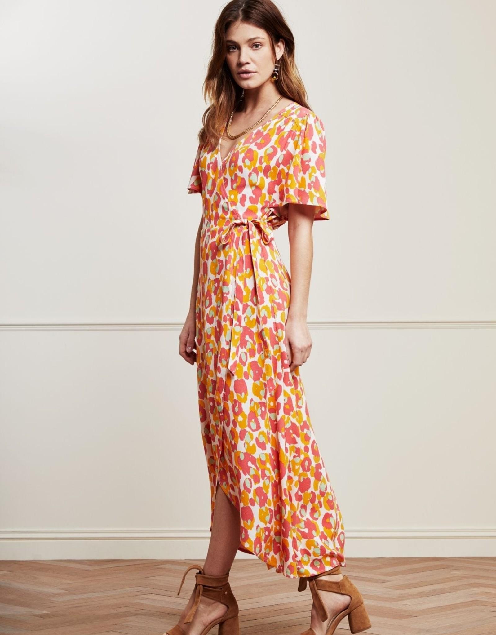 Fabienne Chapot Archana Sleeve Cato Dress Loopy Leopard