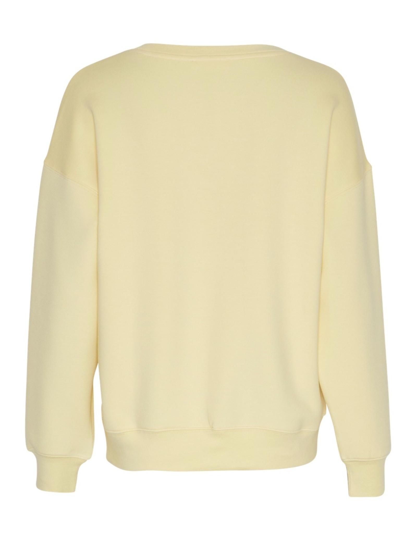 Moss Copenhagen Ima DS Sweatshirt Pale Banana