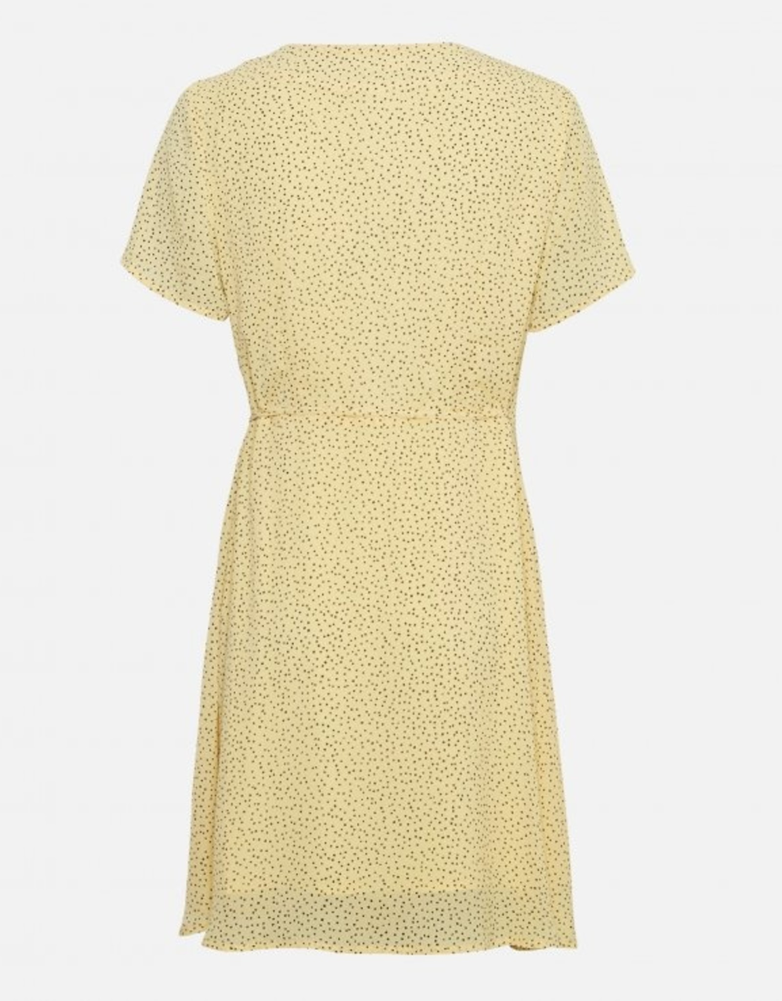 Moss Copenhagen Linoa Rikkelie Wrap Dress Pale Banana Dot