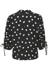 Gestuz Fjola Duo Shirt Black w Grey Dot
