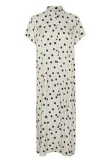 Gestuz Dora Dress Off White w Black