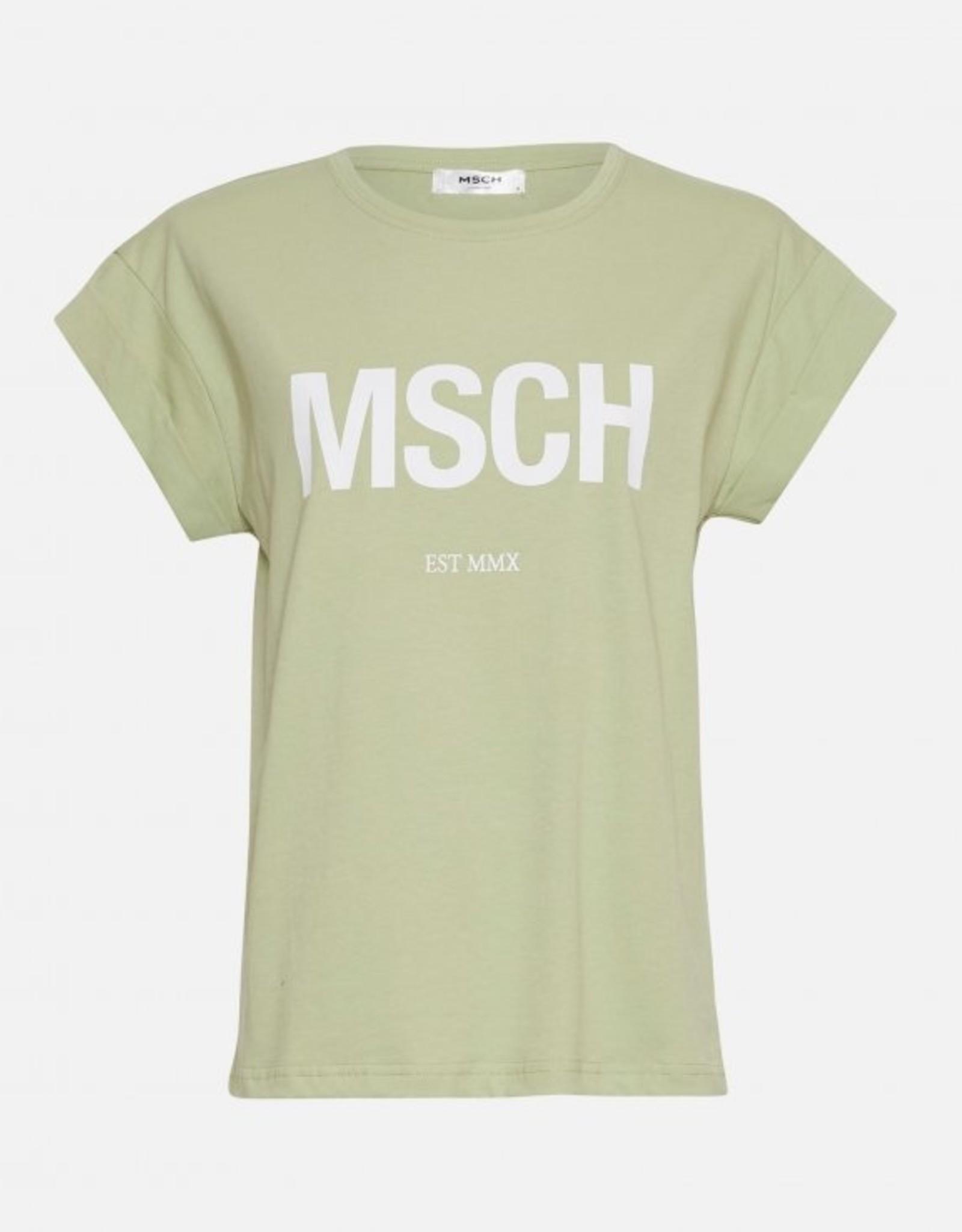Moss Copenhagen Alva MSCH STD Tee Reseda / White