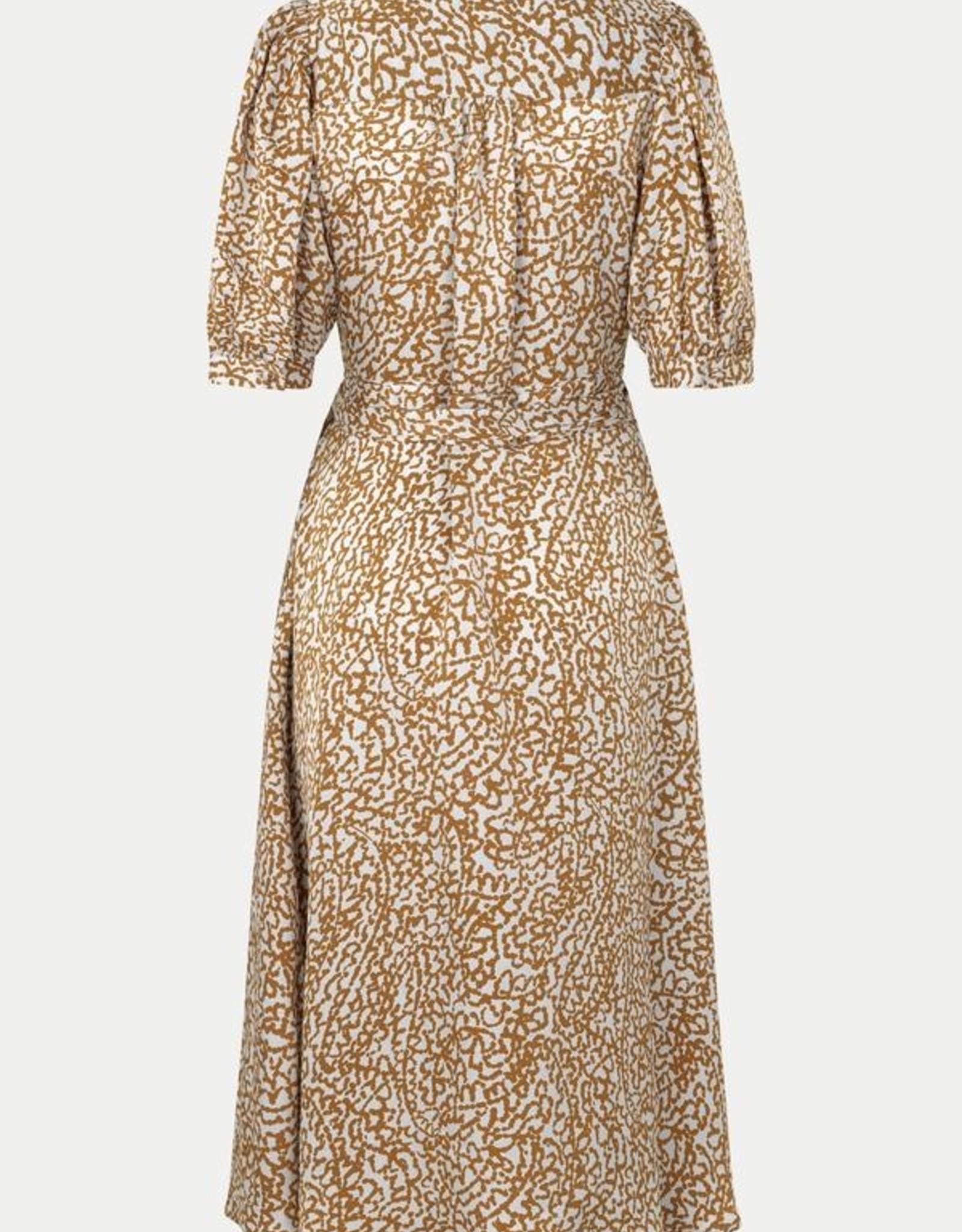 Second Female Granada Wrap Dress Bronze Brown