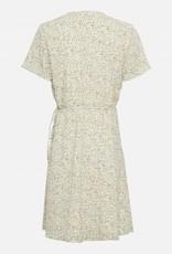 Moss Copenhagen Evette Wrap Dress Ecru Flower