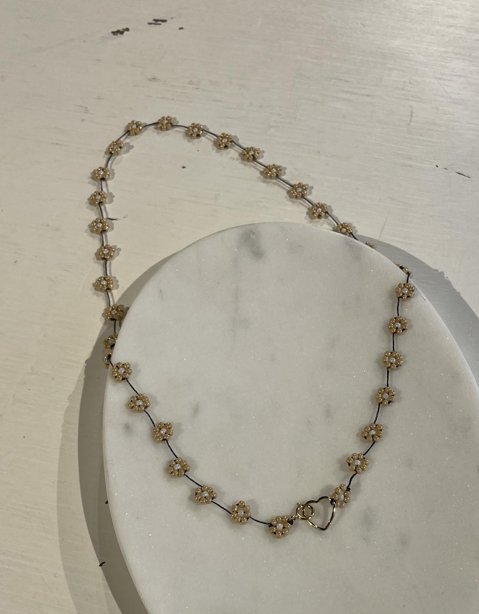Atelier Labro Fiori Necklace Dark Beige