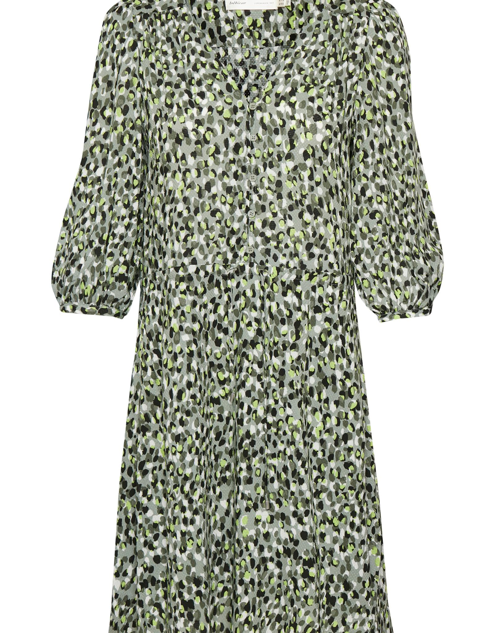 InWear Fia Dress Green Forrest Confetti