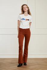 Fabienne Chapot Eva Corduroy Flare Trousers Cognac