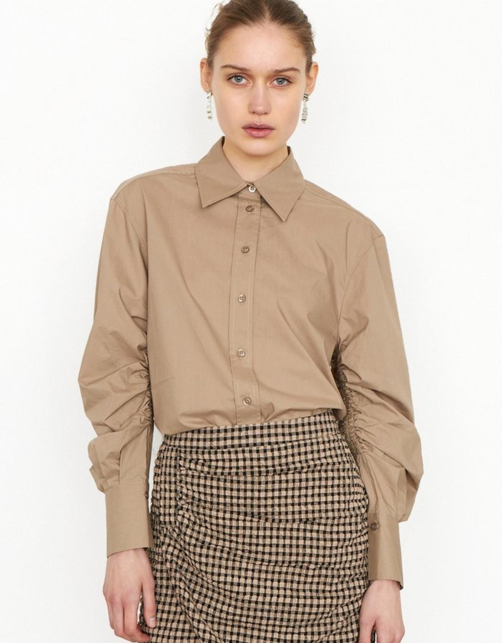 Second Female Phoebe Detail Shirt Chinchilla