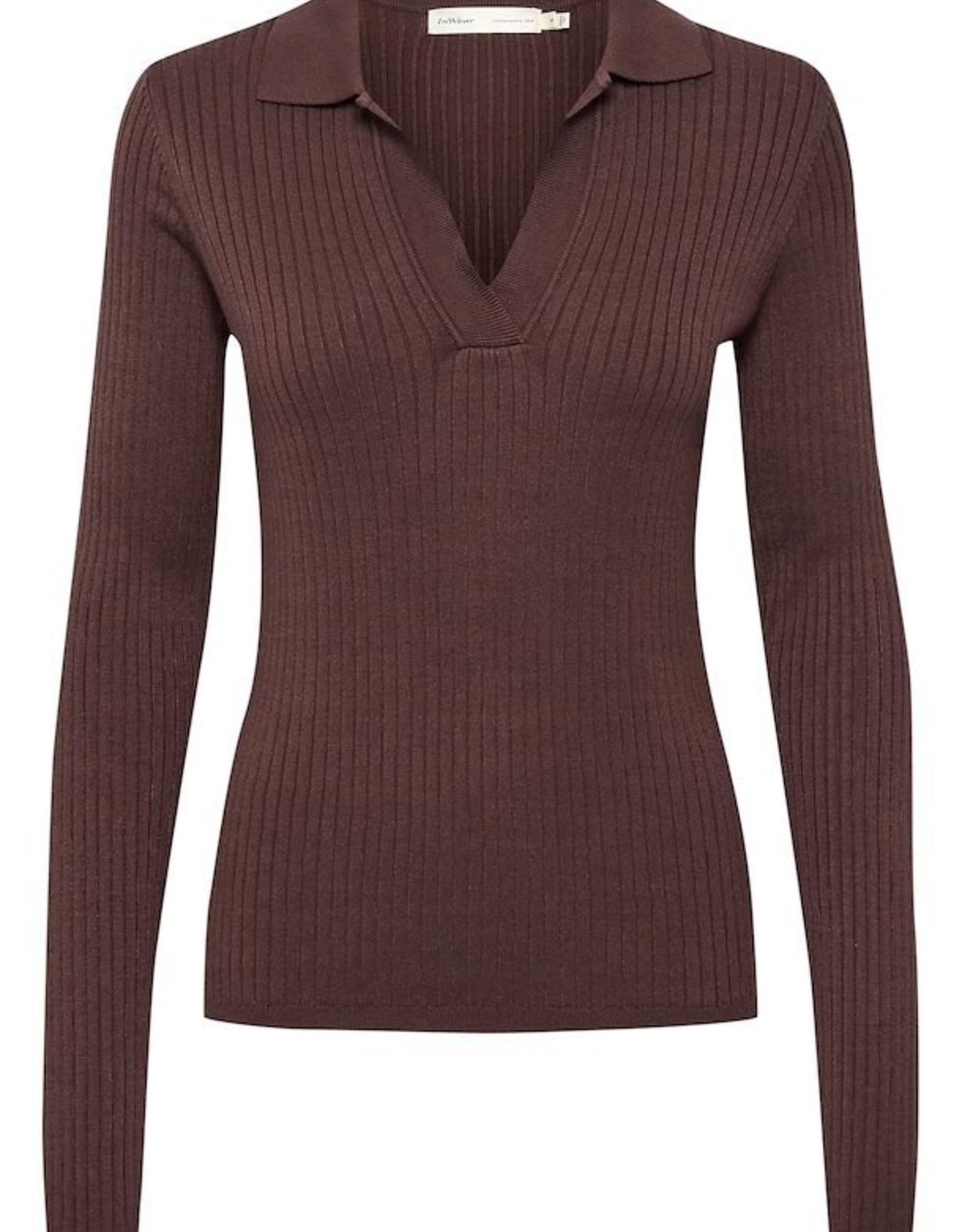 InWear Trinne Polo Pullover Coffee Brown